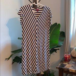 🌿☘️Merona white and blue beach dress size XS☘️🌿